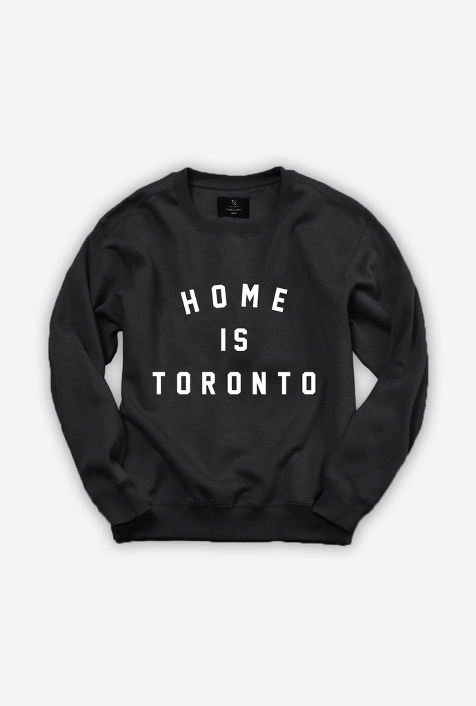 Home is Toronto Varsity Crewneck - Black
