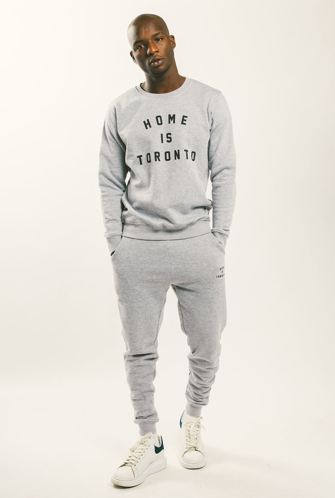 Home is Toronto Varsity Crewneck - Grey
