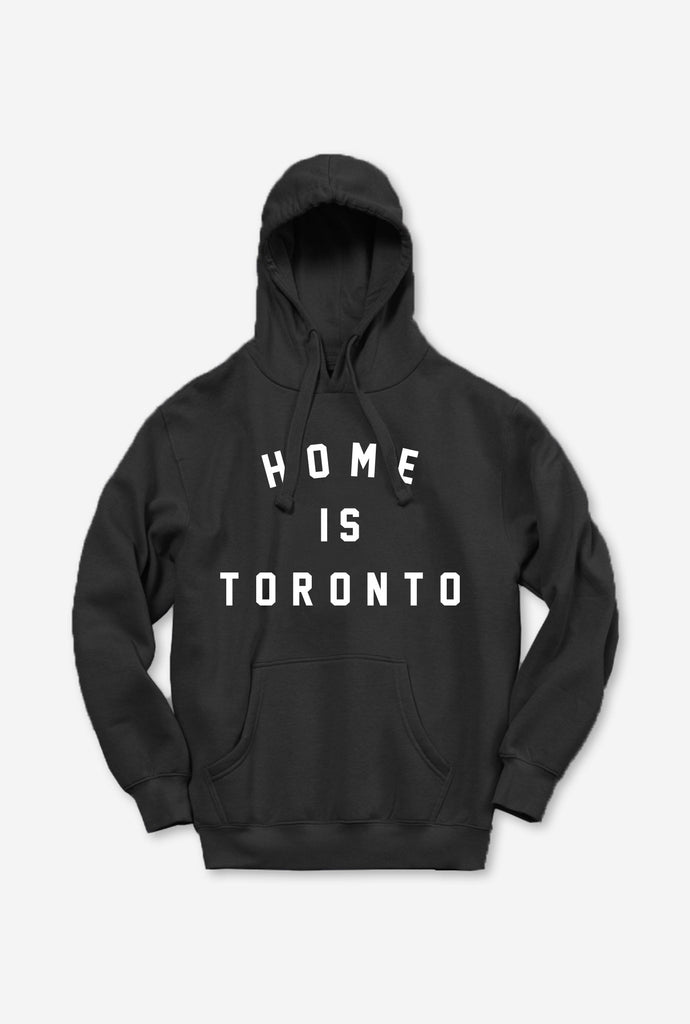 Home is Toronto Varsity Hoodie - Black