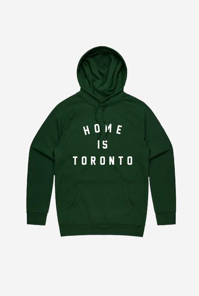 Home is Toronto Varsity Hoodie - Forest Green