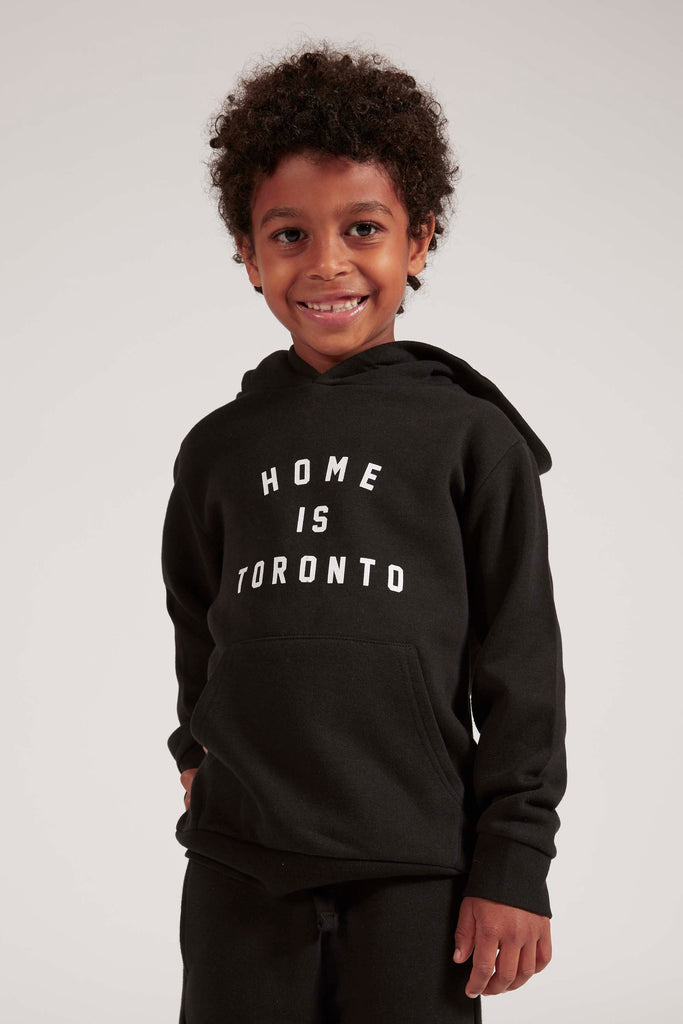 Home is Toronto Varsity Kids Hoodie - Black