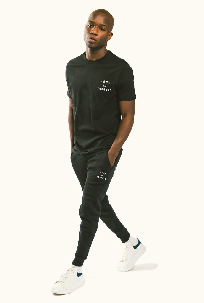 Home is Toronto Crescent T-Shirt - Black