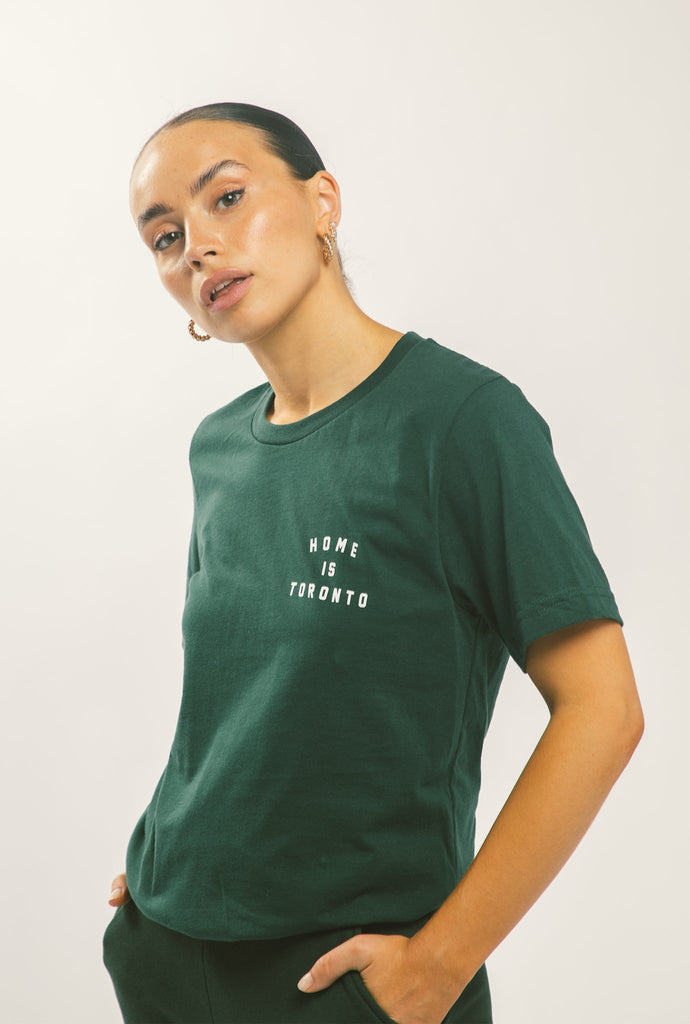 Home is Toronto Crescent T-Shirt - Forest Green