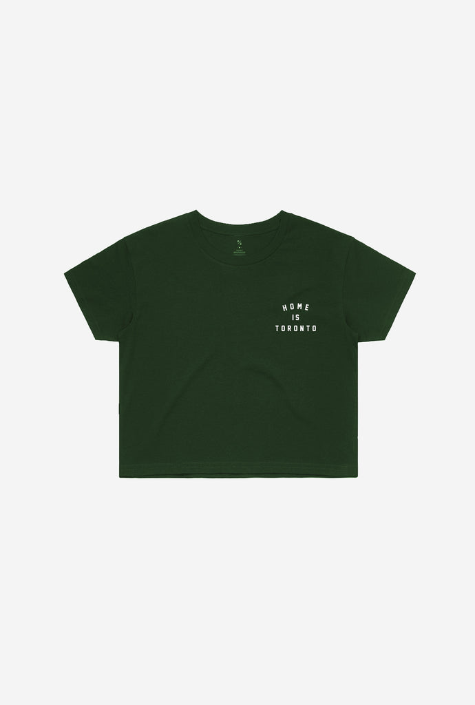 Home is Toronto Crescent Cropped T-Shirt - Forest Green