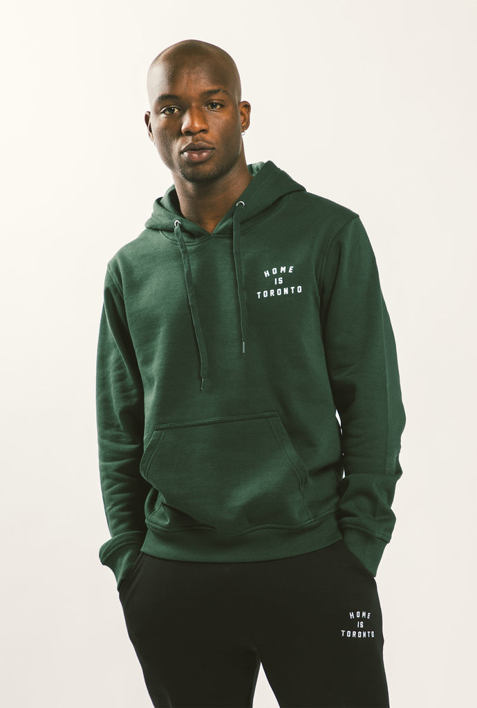 Home is Toronto Crescent Hoodie - Forest Green