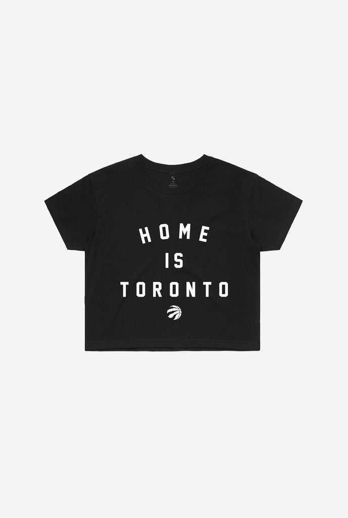 Home is Toronto Raptor Ball Cropped T-Shirt - Black