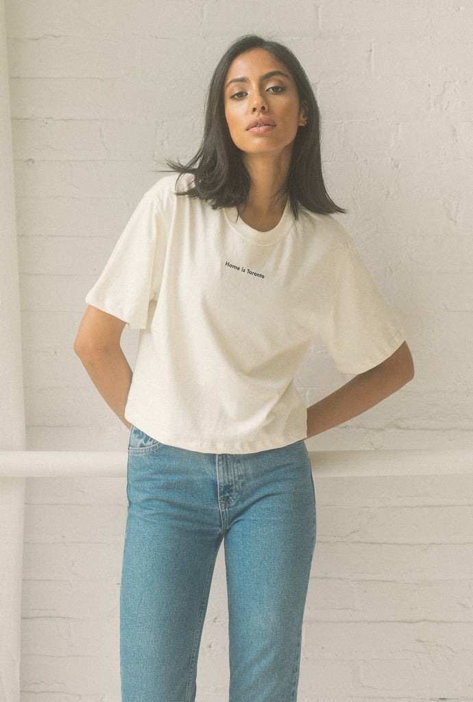 Home is Toronto Cropped T-Shirt - Natural