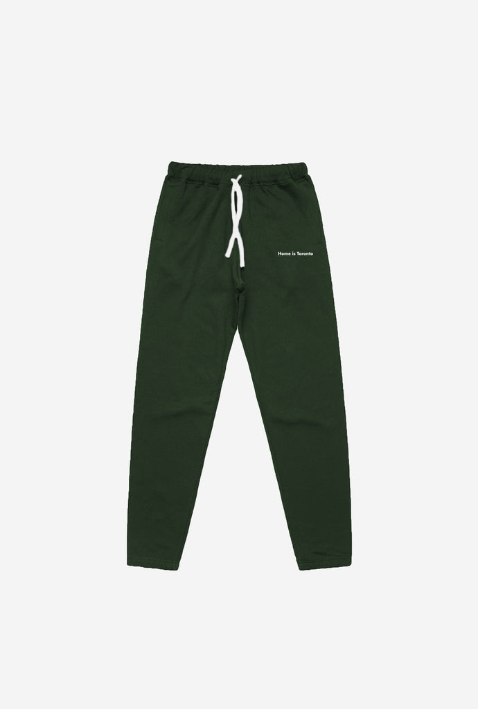 Home is Toronto Minimal Women's Jogger - Forest Green