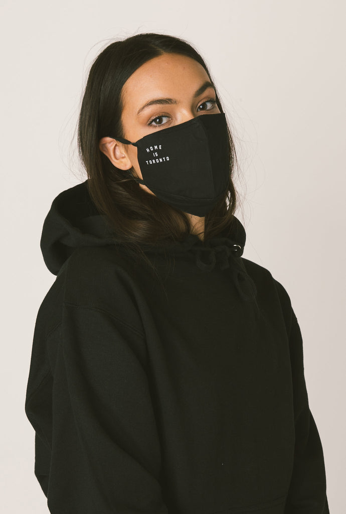 Home is Toronto Face Mask - Black