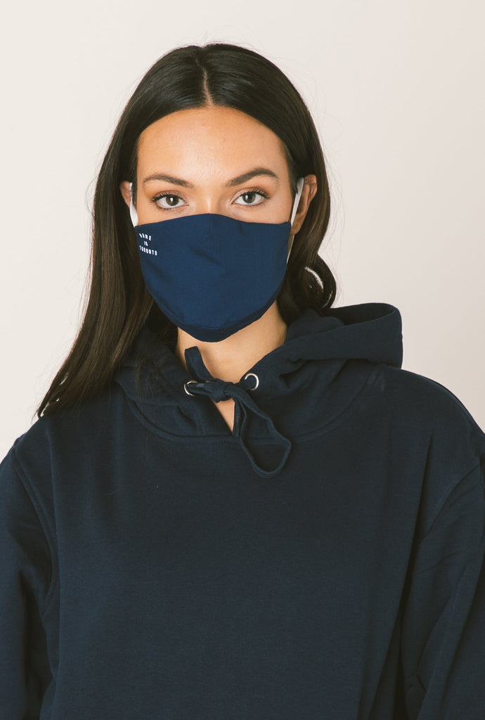 Home is Toronto Face Mask - Navy