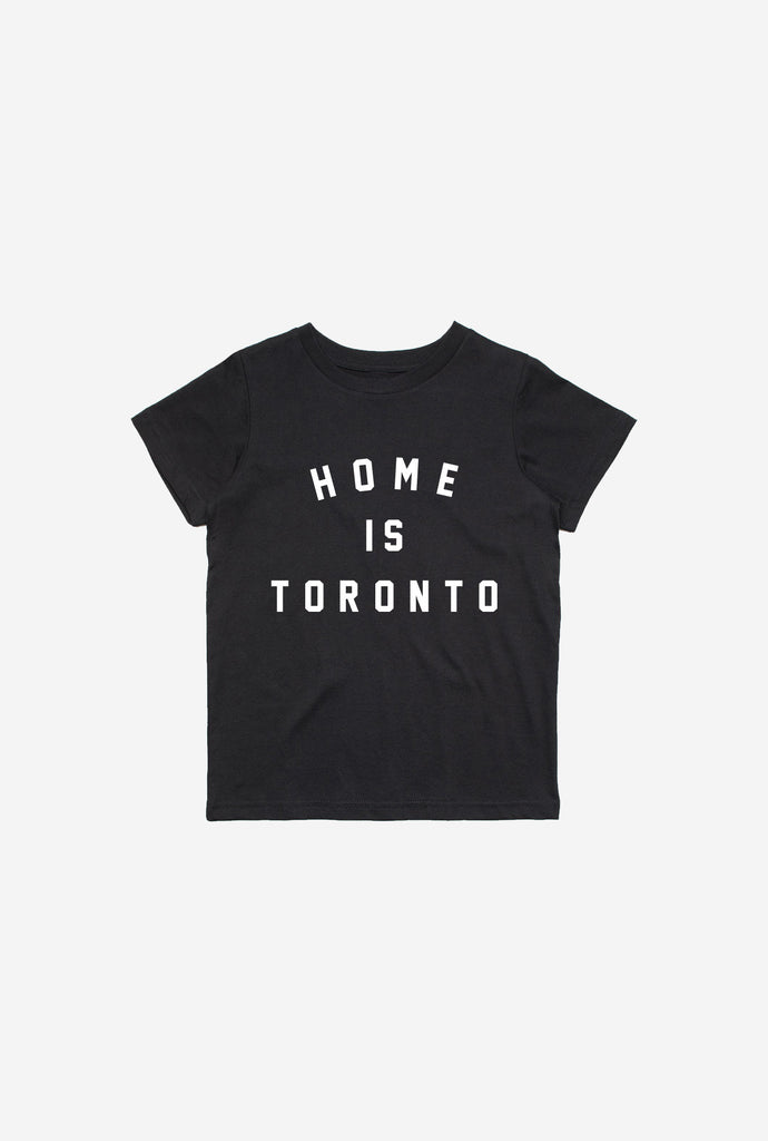 Home is Toronto Varsity Kids T-Shirt - Black