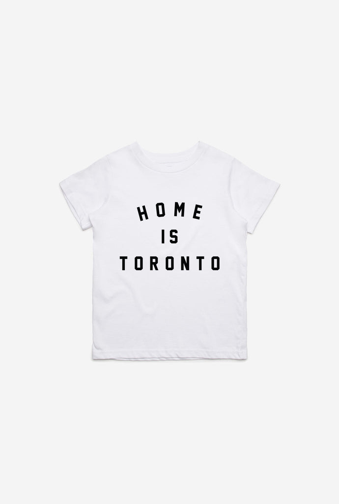Home is Toronto Varsity Kids T-Shirt - White