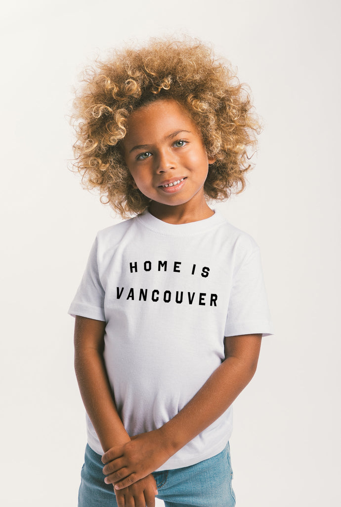 Home is Vancouver Kids T Shirt White