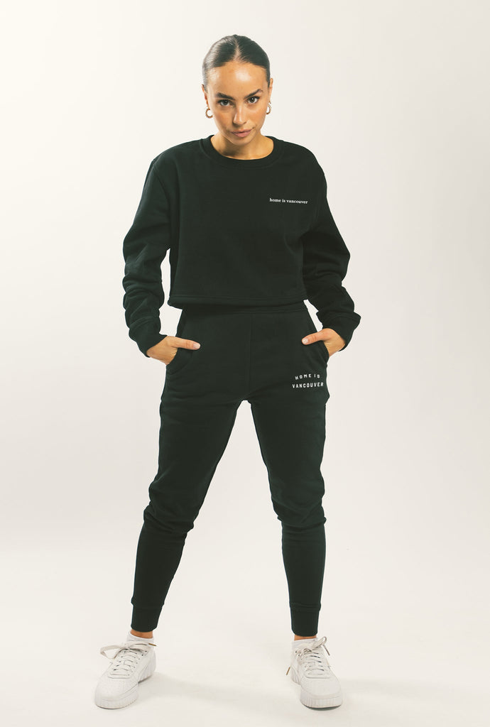 Home is Vancouver Slim Fit Jogger - Black