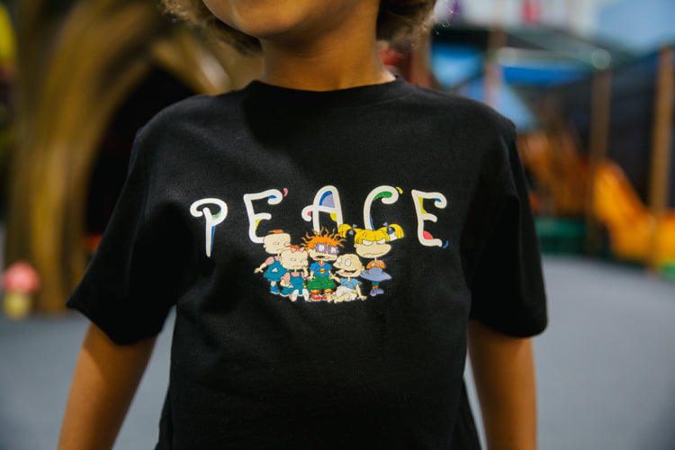 P/C x Rugrats Peace Kids T-Shirt - Black