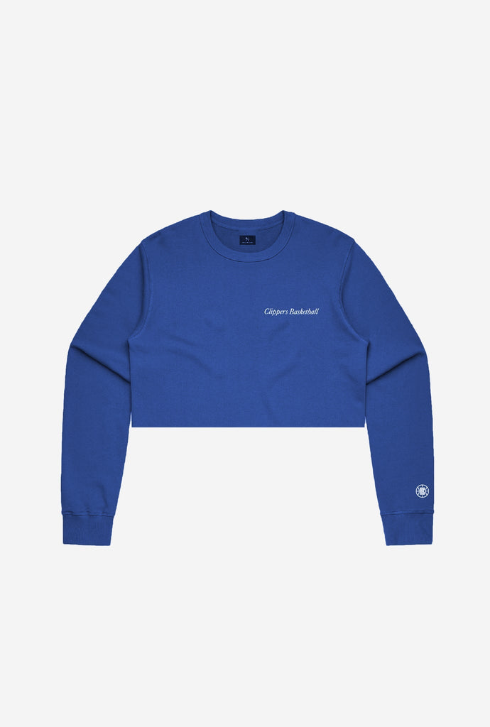 Los Angeles Clippers Premium Cropped Sweater - Royal