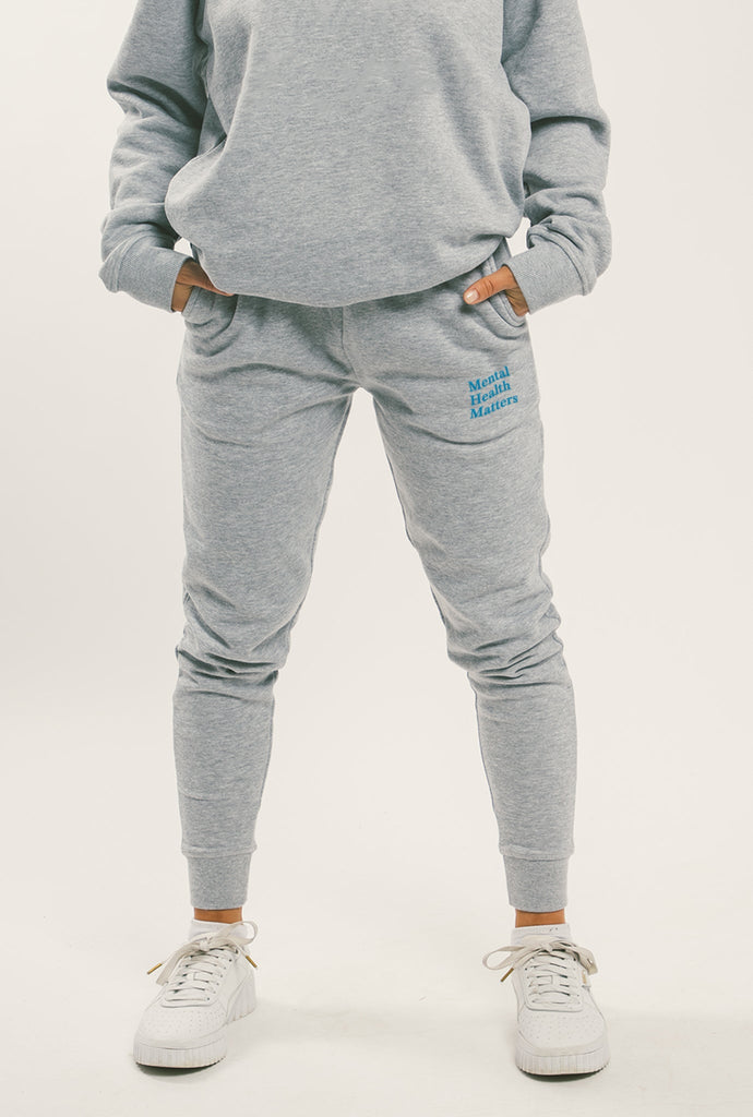 Mental Health Matters Slim Fit Jogger - Grey