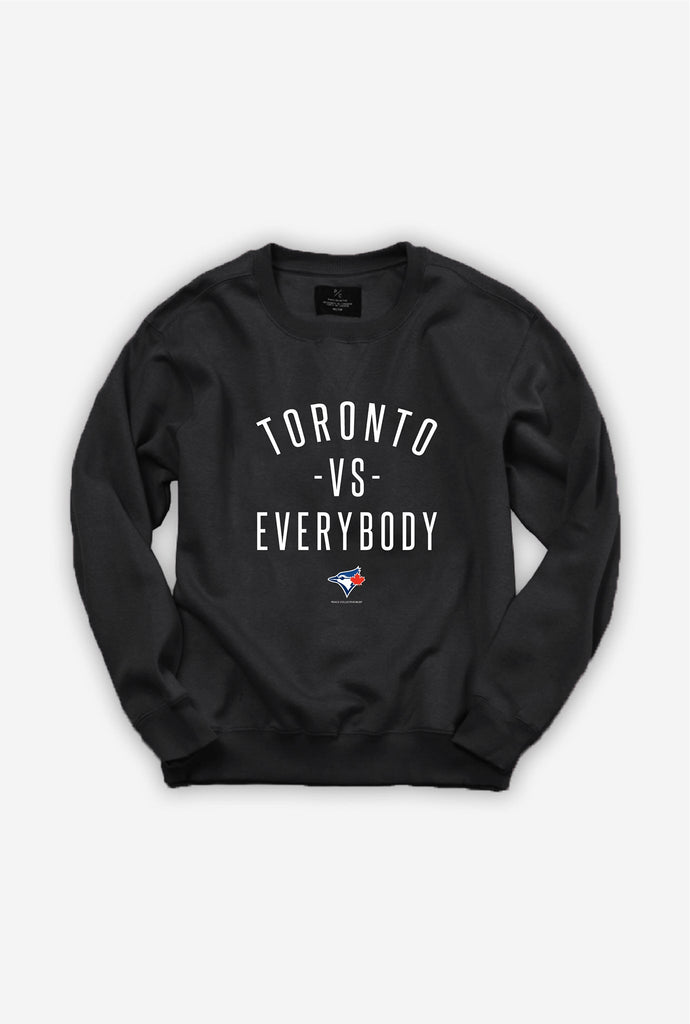Blue Jays™ Toronto -vs- Everybody Crewneck - Black