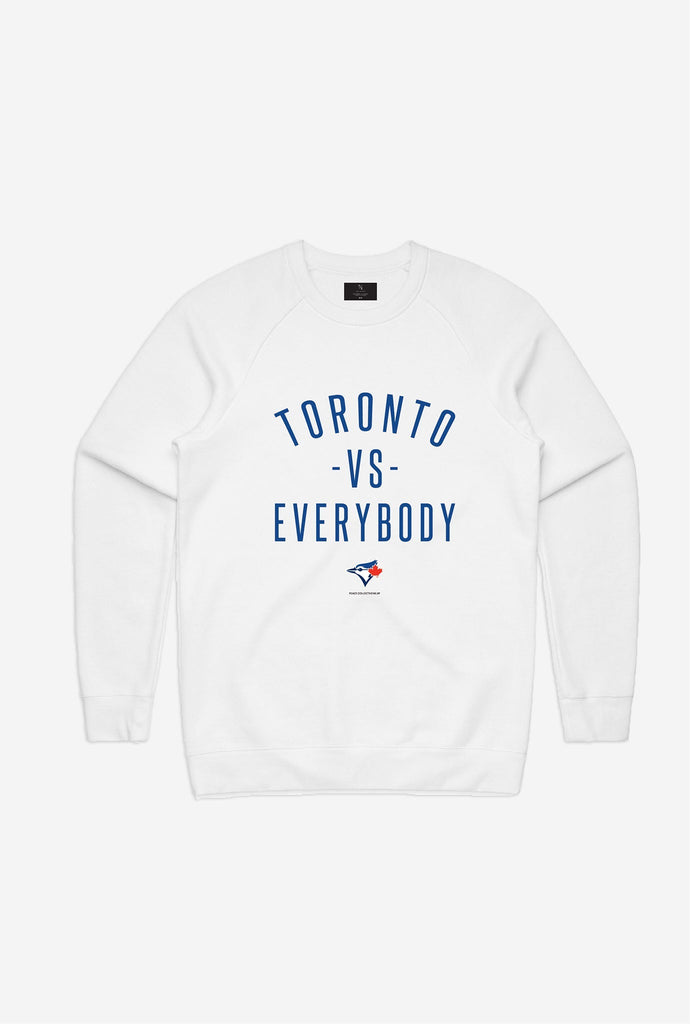 Blue Jays™ Toronto -vs- Everybody Crewneck - White
