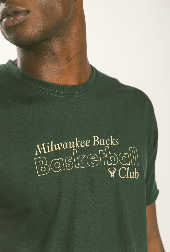Milwaukee Bucks Basketball T-Shirt - Forest Green