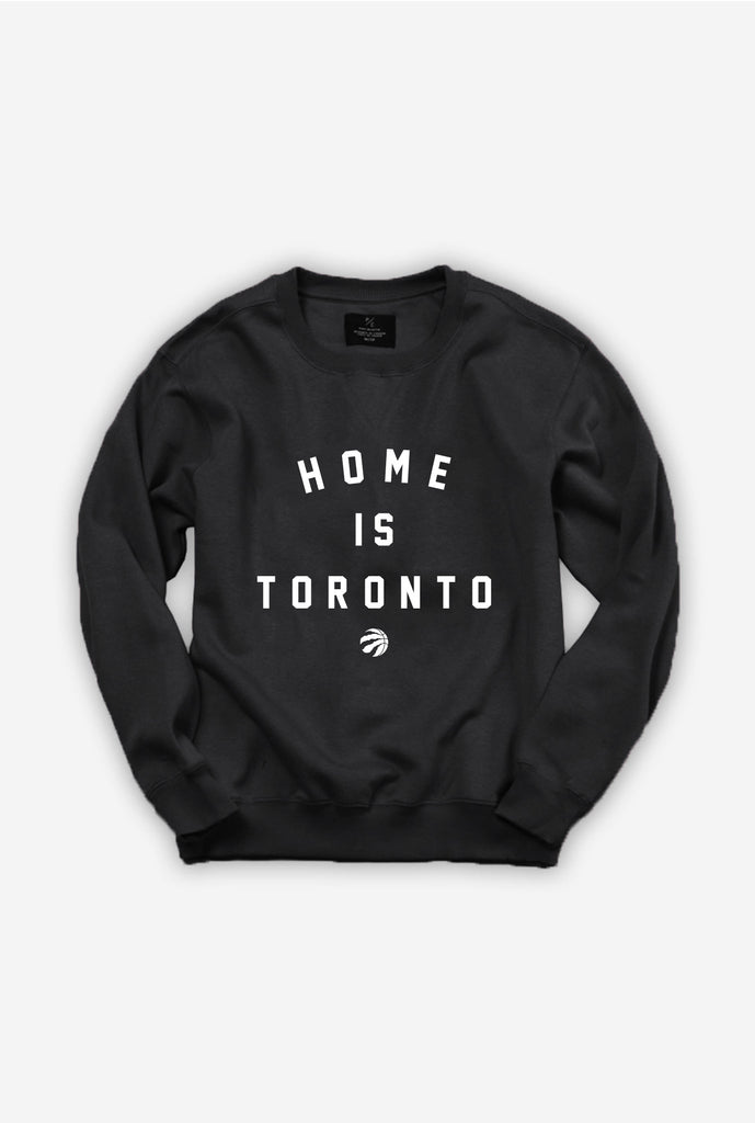 Home is Toronto Raptor Ball Crewneck - Black