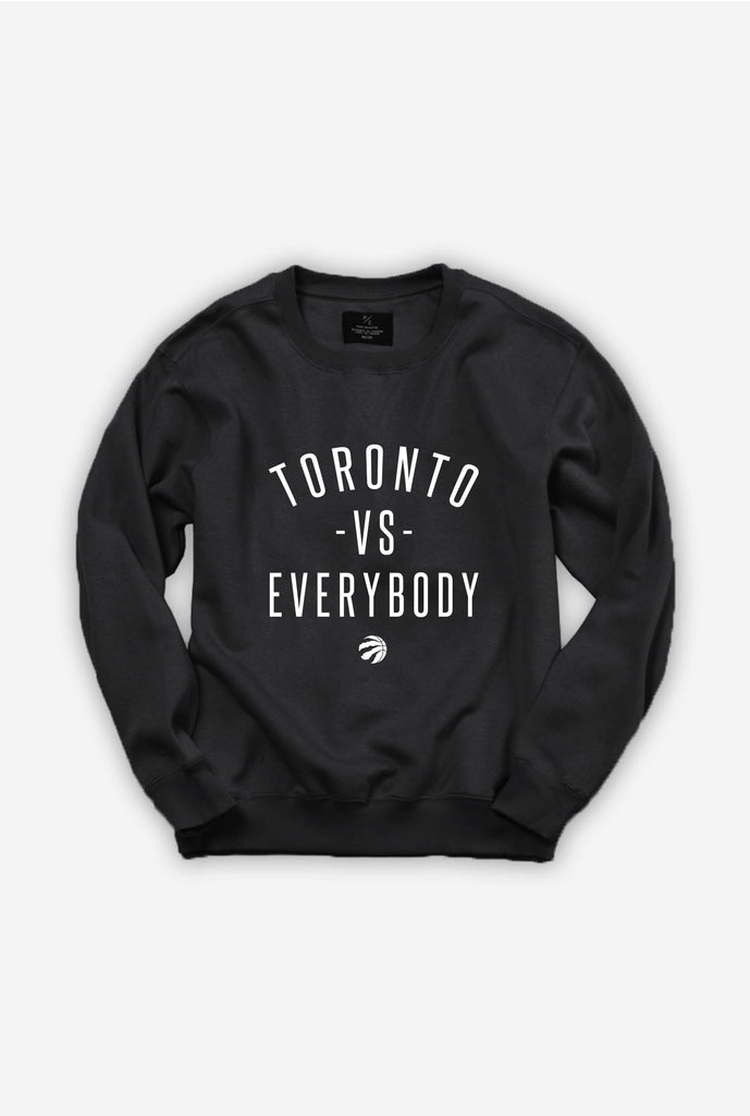Toronto -vs- Everybody Raptor Ball Crewneck - Black