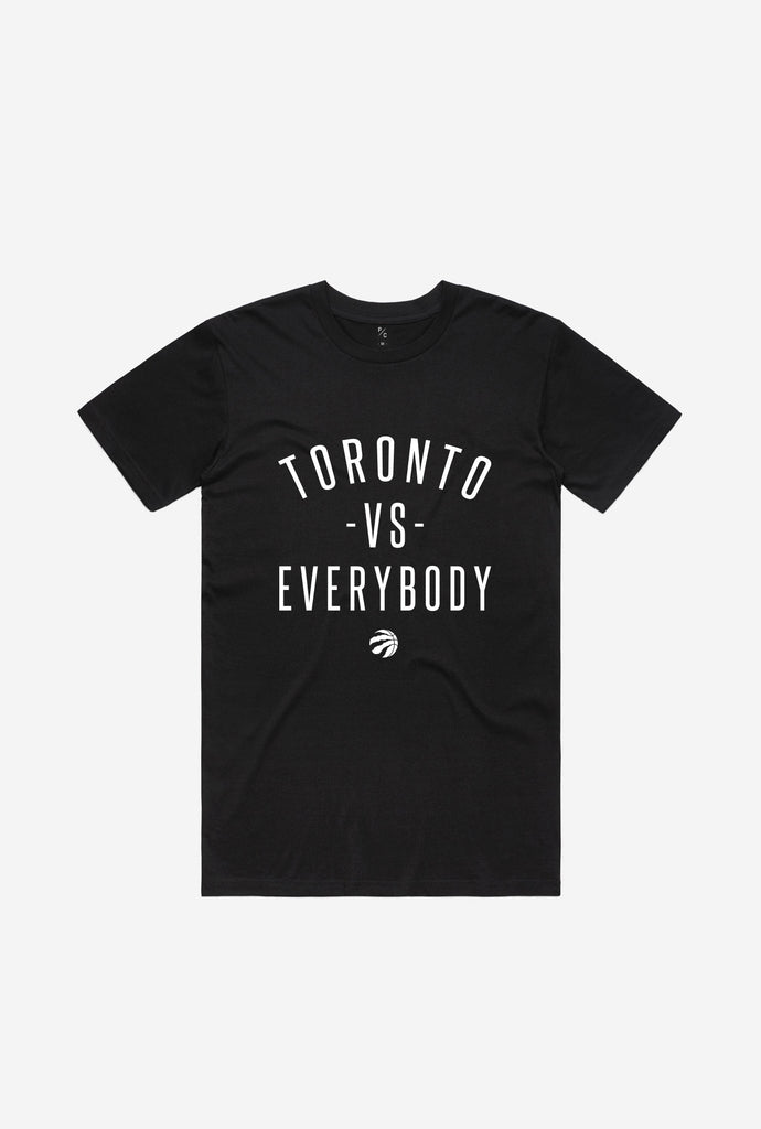 Toronto -vs- Everybody Raptor Ball T-Shirt - Black