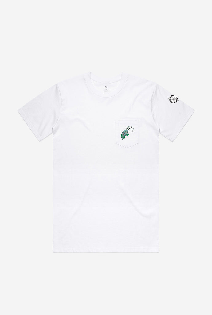 Boston Celtics Plankton Pocket T-Shirt - White