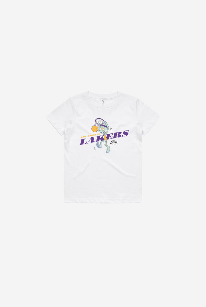 Los Angeles Lakers Squidward Kids T-Shirt - White