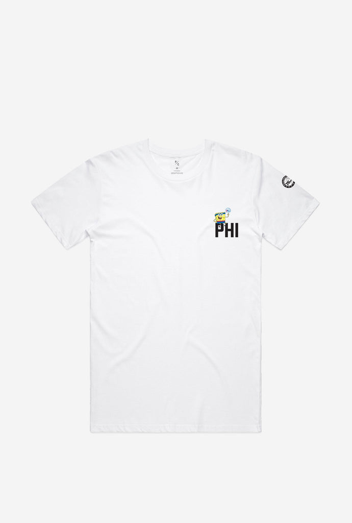 'PHI' Spongebob Crescent T-Shirt - White