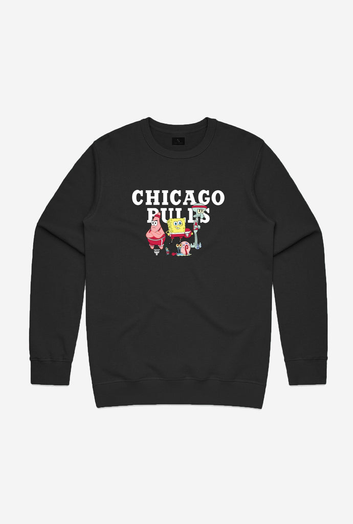 NBA x Spongebob Chicago Bulls Team Crewneck - Black