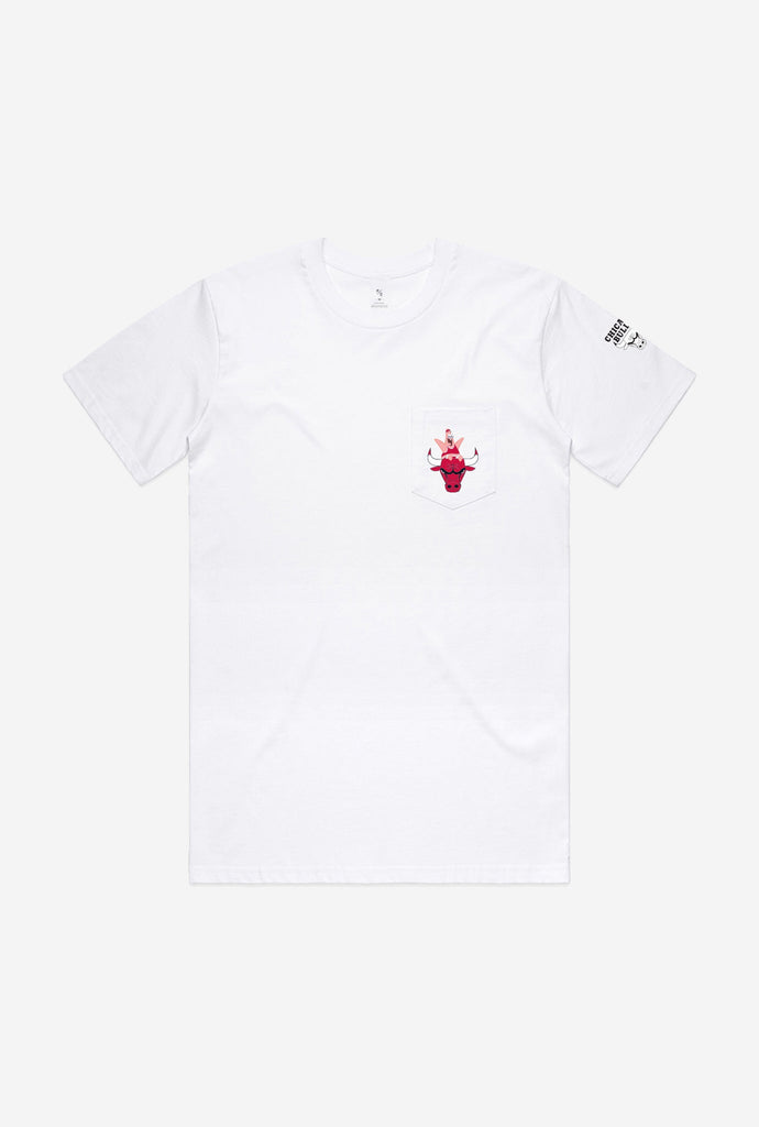 NBA x Spongebob Chicago Bulls Patrick Pocket T-Shirt - White