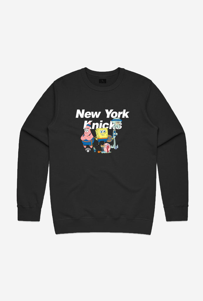 NBA x Spongebob New York Knicks Team Crewneck - Black
