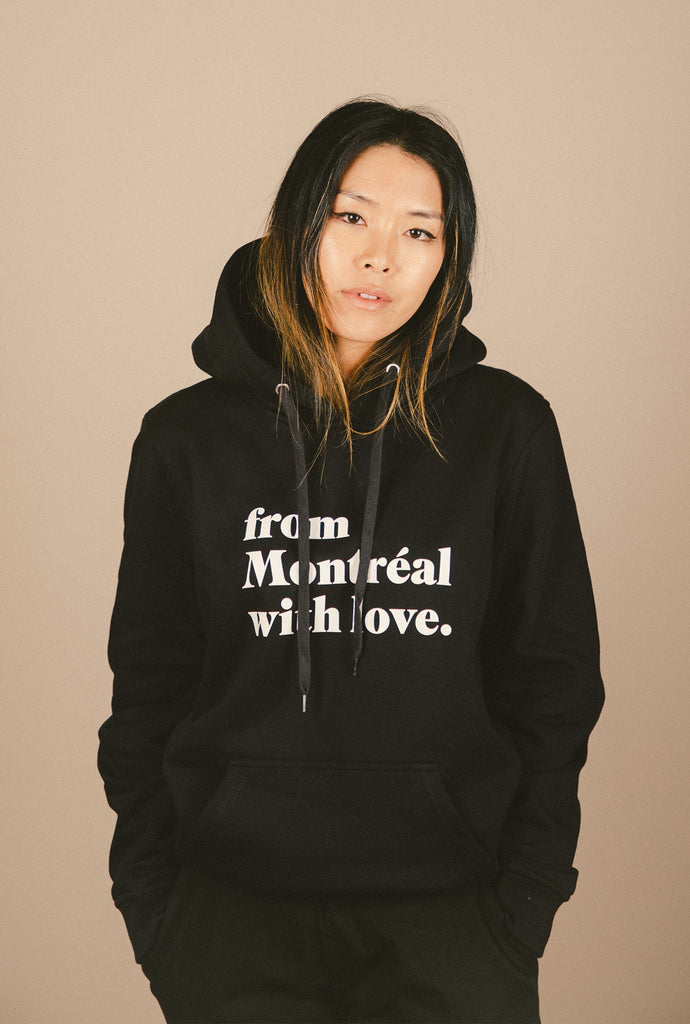 From Montreal with Love Hoodie - Black