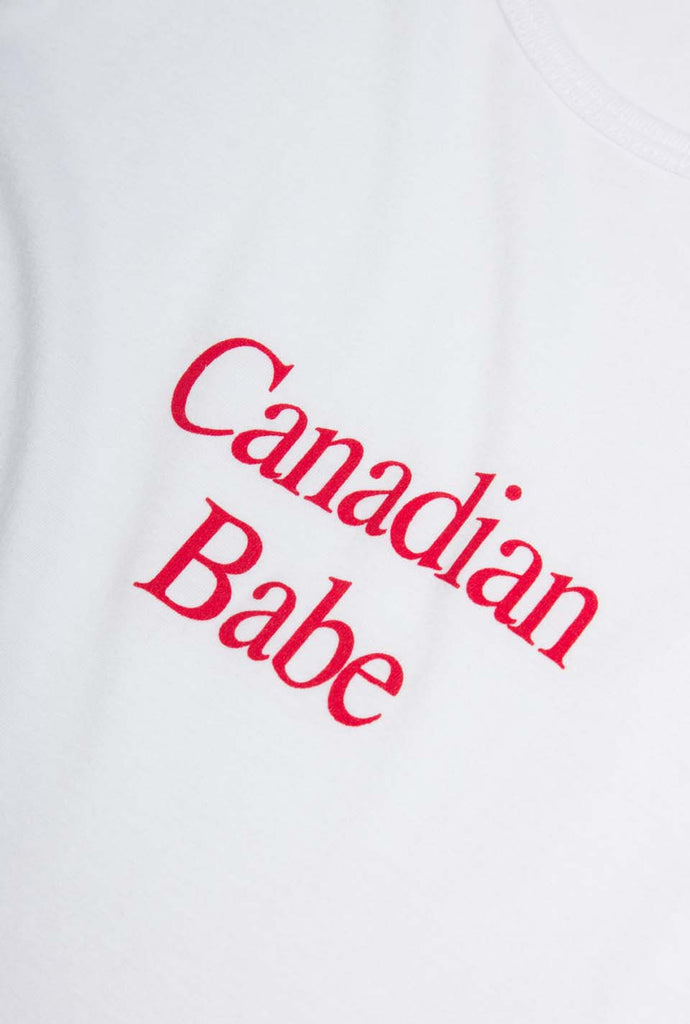 Canadian Babe Bamboo Tank - White