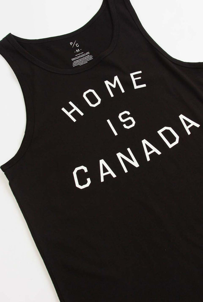 Home is Canada Tank - Black