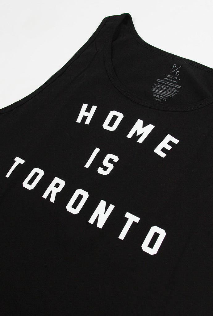 Home is Toronto Varsity Tank - Black