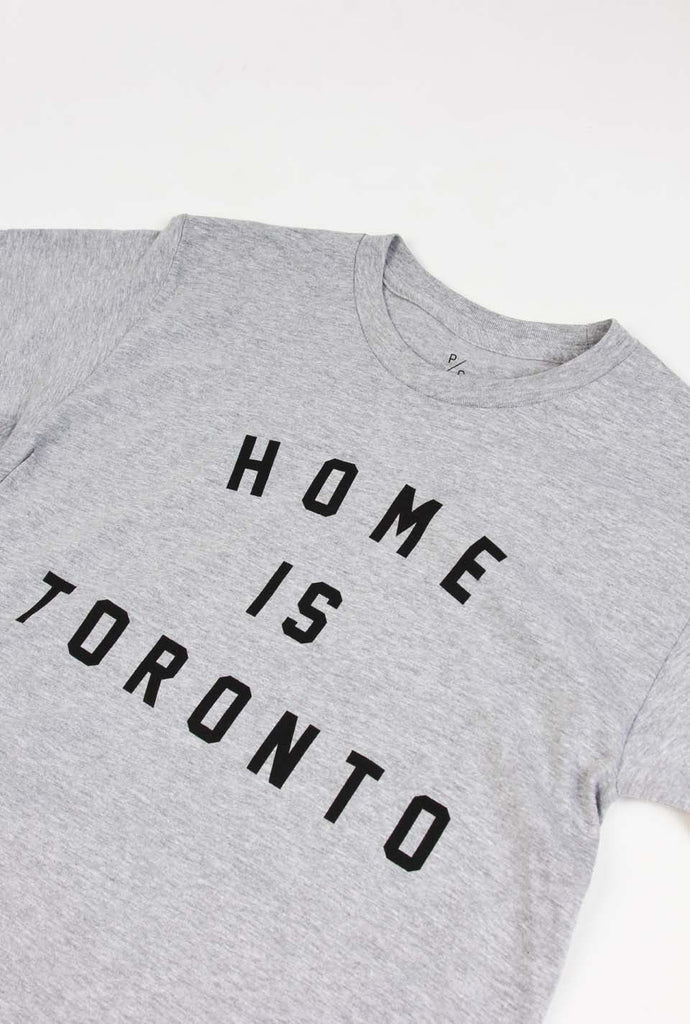Home is Toronto Varsity T-Shirt - Grey