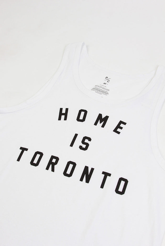 Home is Toronto Varsity Tank - White