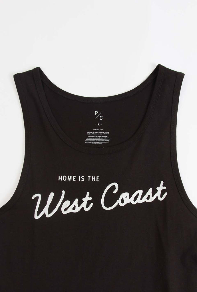 Home is the West Coast Tank - Black