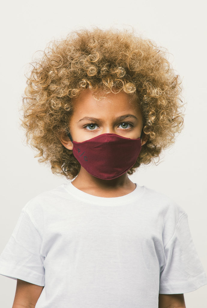 P/C Kids Face Mask - Maroon