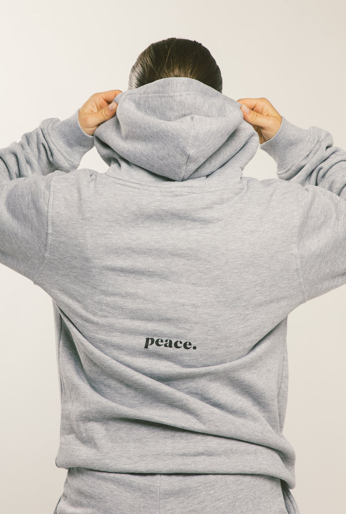 Peace Essentials Hoodie - Grey