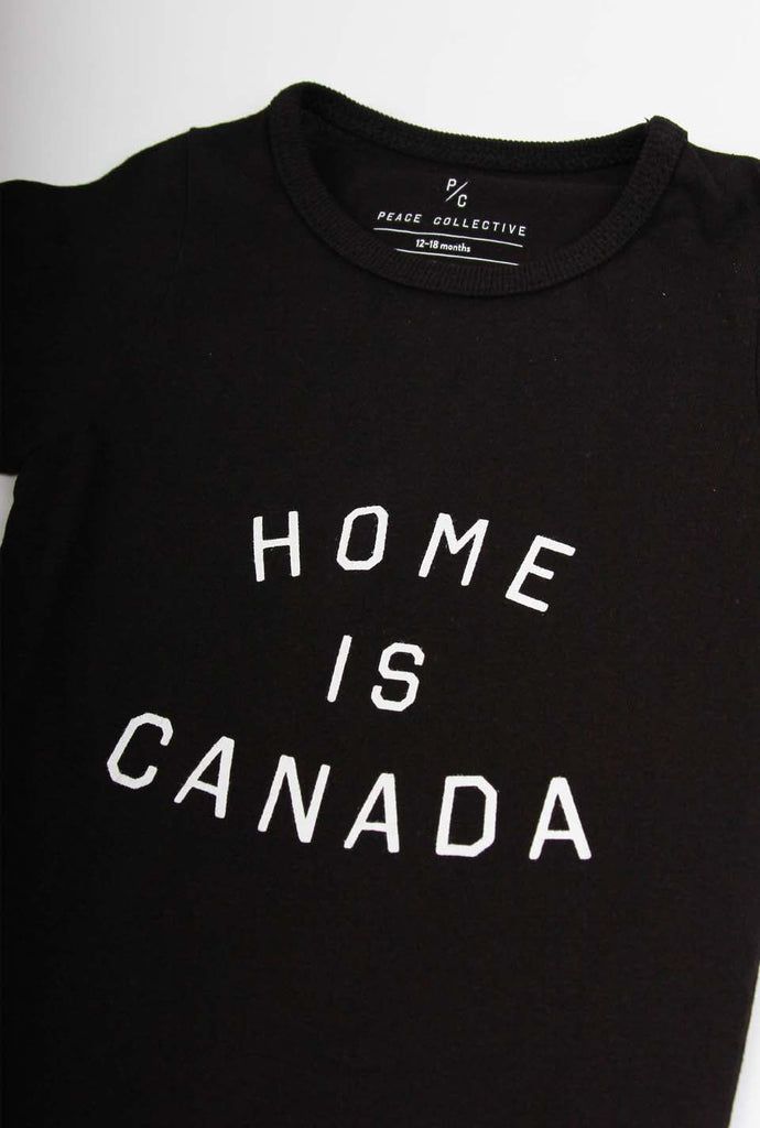 Home is Canada Short Sleeve Onesie - Black
