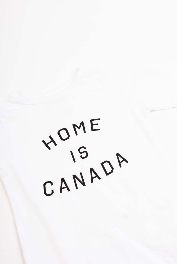 Home is Canada Short Sleeve Onesie - White