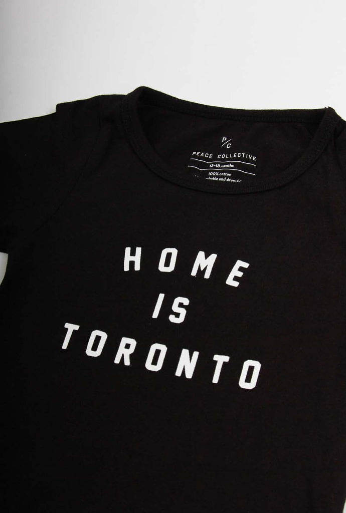 Home is Toronto Varsity Short Sleeve Onesie - Black