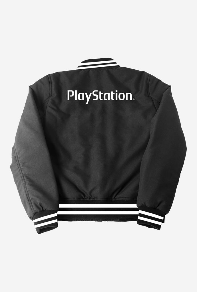 Final Sale - P/C x PlayStation® Varsity Bomber - Black
