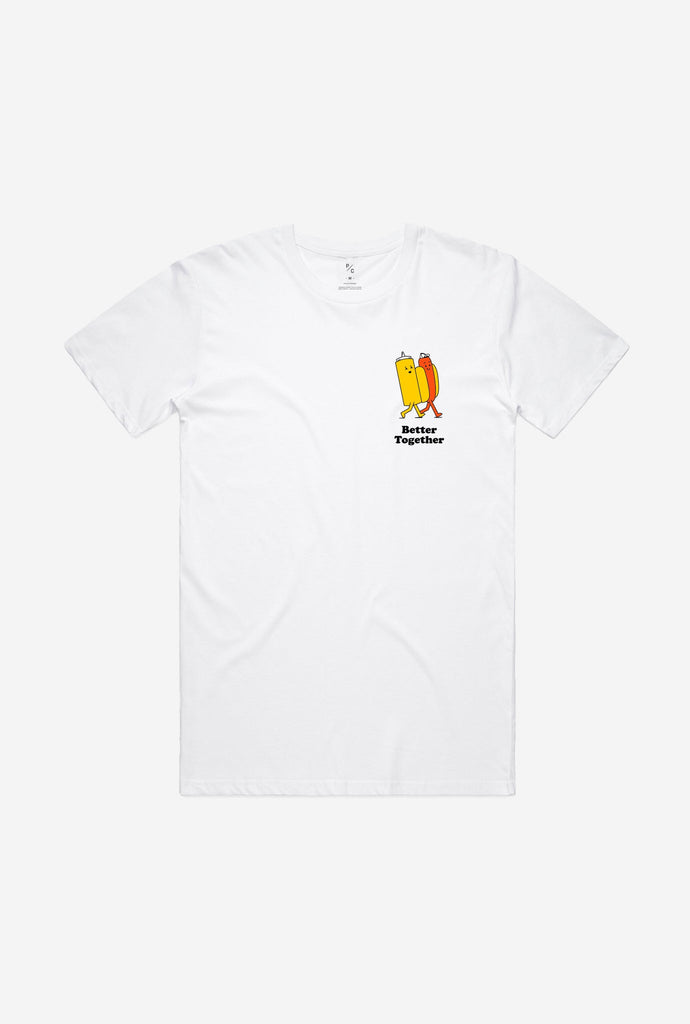 Better Together Hot Dog T-Shirt - White