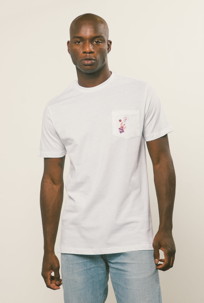 Toronto Raptors Patrick Pocket T-Shirt - White