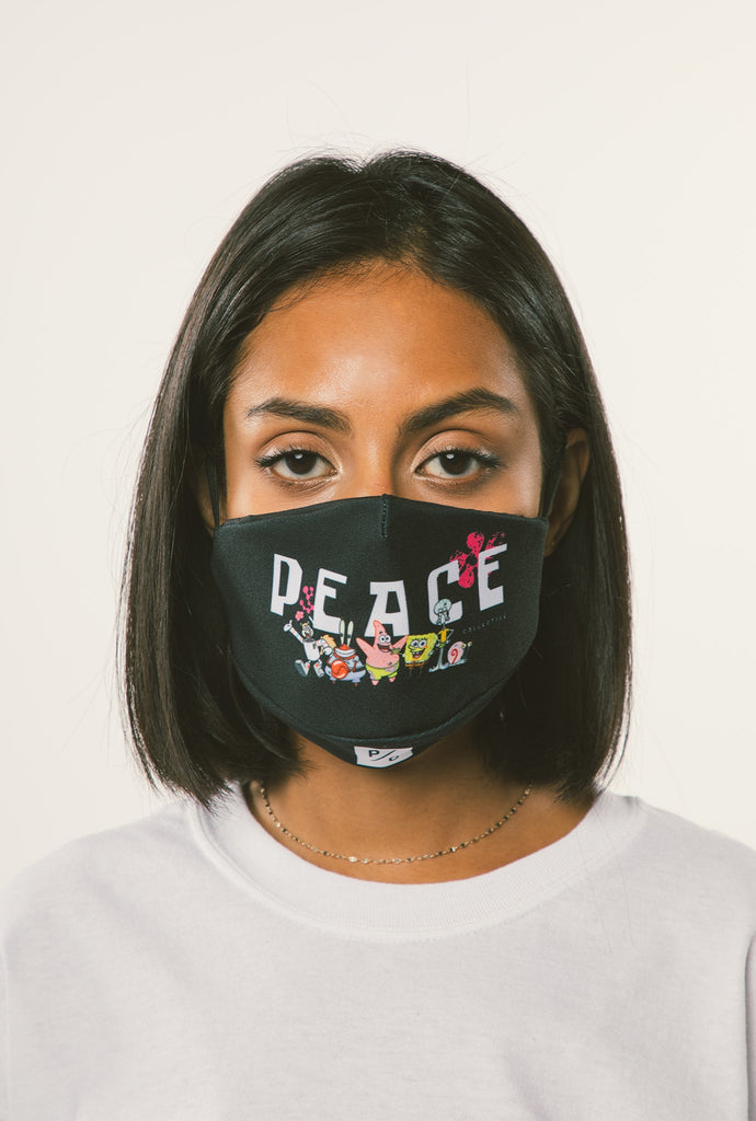 P/C x Spongebob Adult Face Mask - Black