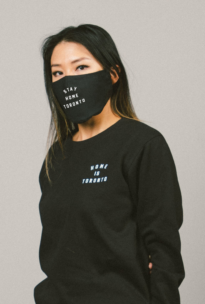 Stay Home Toronto Face Mask - Black